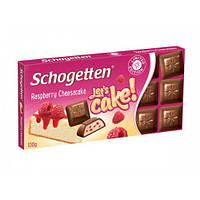 Шоколад молочный Schogеtten Raspberry Cheesecake с малиновым сырным пирогом 100г.