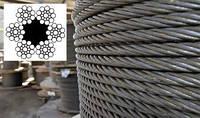 Канат (трос) стальной диаметр 4,6 мм ГОСТ  3077-80 тип ЛК-О конструкции 6 х 19 (1+9+