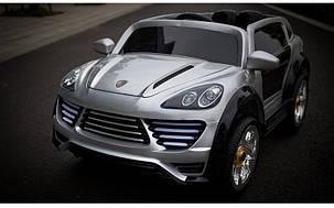 Детский электромобиль Porsche Cayenne FT 2128 серый, фото 2