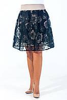 Нарядная женская юбка полу-солнце Валери