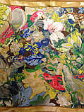 """Женский легкий цветочный платок-картина """"Сюжетная композиция""""(цв.17), фото 2"""