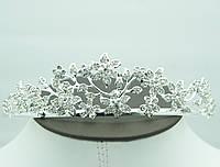 Диадемы с цветами и кристаллами для невест. Королевские украшения оптом в Украине. 47