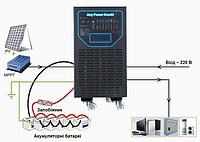 Гібридний інвертор APSV 6000 Вт с  MPPT контролером заряда  40 А, 48В