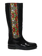 Модные сапоги резиновые с орнаментом размер 36,37 Украина
