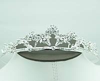 Царская свадебная диадема. Эффектные свадебные украшения для волос оптом. 52