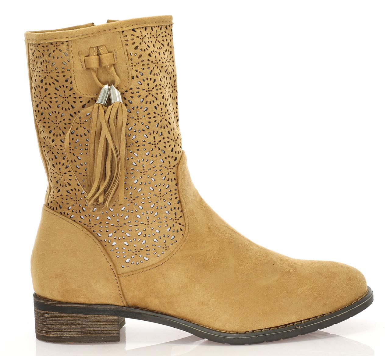Женские ботинки Yuba camel