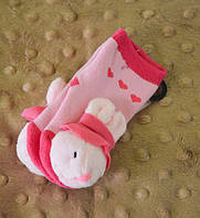 Детские зимние носки-погремушки Зайка