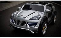 Детский электромобиль Porsche Cayenne FT 2128 серый
