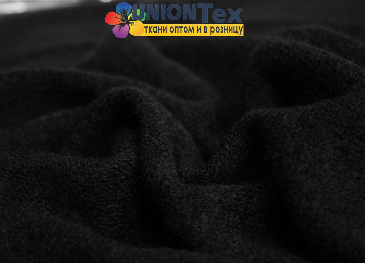 Ангора трикотаж черный