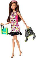 Barbie Барби Городской гламур Тереза в розовом ретро платье Style Glam Doll with Pink Retro Print Dress