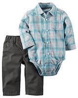 Штаны + Рубашка боди Carters на новорожденного до 55 см. Набор из 2-х частей
