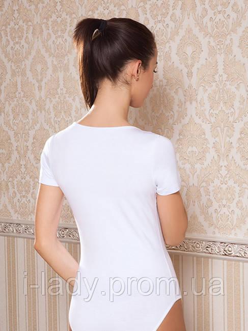 91c4886ce2f17 Белое бельевое женское хлопковое боди-футболка c трусиками-слип ...