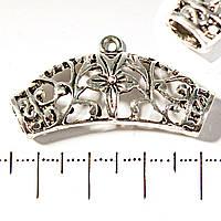 [37х15 мм] Подкулонник на шнур односторонний цветок