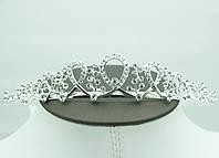 Милая свадебная тиара и диадема с камнями. Выгодная свадебные украшения для волос оптом. 57