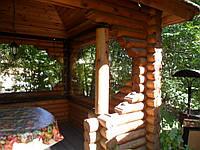 Прозрачные ПВХ  шторы  для деревянных беседок, фото 1