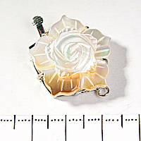 [32 мм] Замок Перламутр Цветок на 1 нить