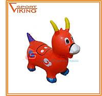 Надувная игрушка-попрыгунчик козлик (красный)