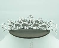 Свадебная фигурная тиара в кристаллах. Праздничная мода от Бижутерии оптом RRR. 63