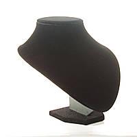 [20/18 см] Подставка для бус черная низкая
