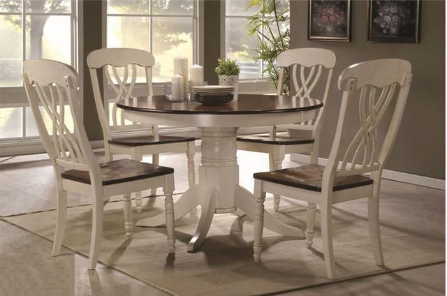 Стол Брадо цвет топленое молоко+дуб в интерьере