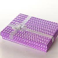 [16/12/3 см] Подарочная коробочка для украшений Блеск Ассорти большая прямоугольная 12 шт