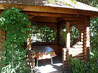 Окна ПВХ для деревянной беседки