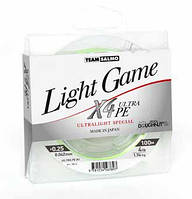 Леска плетеная Team Salmo LIGHT GAME Fine Green X4 100/0.064 (5014-006)
