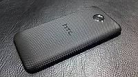 """Декоративна захисна плівка для HTC Desire 601 """"мікро-чорний карбон"""", фото 1"""