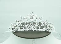 Высокая диадема для свадебной причёски. Диадемы и тиары 2016 от Бижутерии оптом RRR. 73