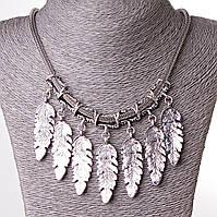 7 Перьев Ювелирный Сплав Silver Ожерелье
