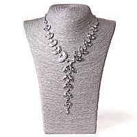 [10-20 мм] Ожерелье Возрастающая лоза страза Silver