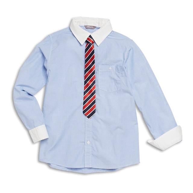 Школьные рубашки с длинным рукавом оптом