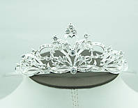 Великолепная свадебная корона в стразах. Пленительные свадебные украшения оптом в Украине. 75