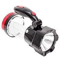 Фонарь кемпинговый аккумуляторный 1LED 1W + 12 LED INTERTOOL LB-0111
