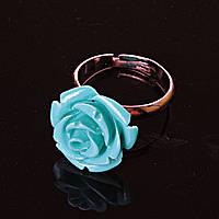 Безразмерное Роза Полимерная Глина Голубой Кольцо