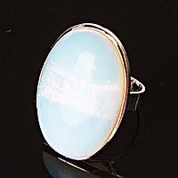 Кольцо Лунный Камень  овал гладкая оправа 2,7*2,1см без р-р