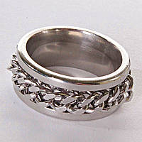[17,18,19,20] Мужское кольцо обручальное  цепь