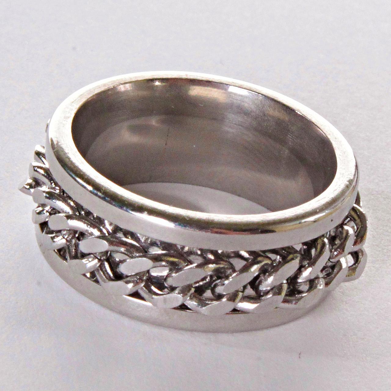 [17,18,19,20] Мужское кольцо обручальное  цепь - ☆SOUVENIRS☆ - интернет магазин бижутерии, фурнитуры и украшений в Одессе