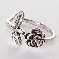 Кольцо веточка Роза [17,18,19]