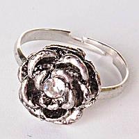 Безразмерка Роза В Центре Страза Кольцо
