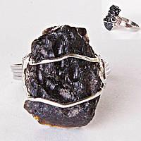 Метеорит (Тектит) Природная Форма Кольцо
