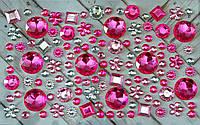 Декоративные камни, на клеевой основе, разных цветов, размер пластинки 15*9 см, размер камней 6-18 мм