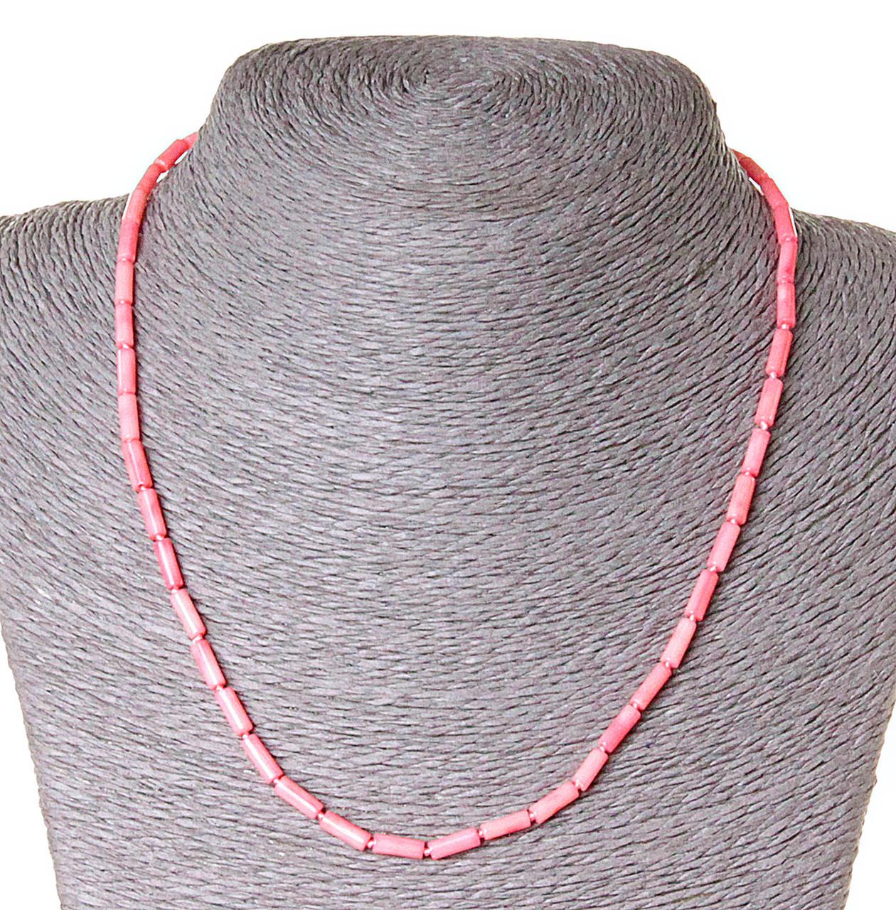 Бусы из натуральных камней коралл розовый, бусины  трубочки 3,5х9 - ☆SOUVENIRS☆ - интернет магазин бижутерии, фурнитуры и украшений в Одессе