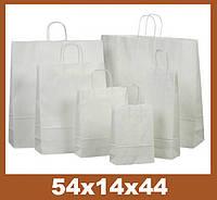 Бумажные пакеты, 54x14x44см, крафт 90 гр.м, белый