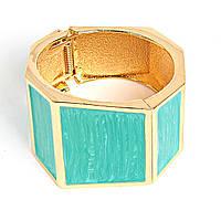 Браслет женский из квадратных элементов, голубой цвет