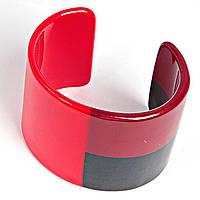 [6см] Браслет женский, широкий, твердый, цвета: красный, бордовый, черный