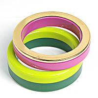 """[6.5см] Браслет """"Диско"""", женский, обручи, цвета- розовый, желтый, зеленый"""