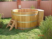 Бочка-купель, деревянная бочка, бочка для бани, деревянная кадушка, бочка в сауну, бочка для купания