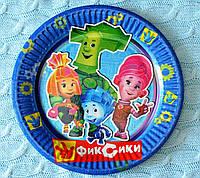 """Праздничные одноразовые бумажные тарелки """"Фиксики"""", диаметр 18 см"""