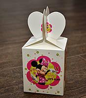 """Праздничная упаковочная коробочка """"Мини Маус"""", картон, 8,5*8,5*10 см"""